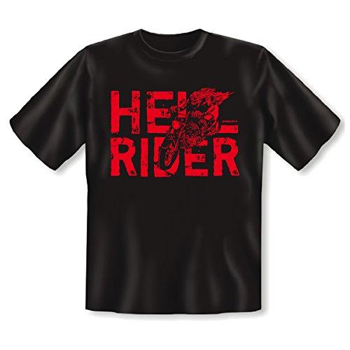 Lässiges Biker T-Shirt - Hell Rider! Goodman Design® Cooles Geschenk für Motorradfreunde! Schwarz