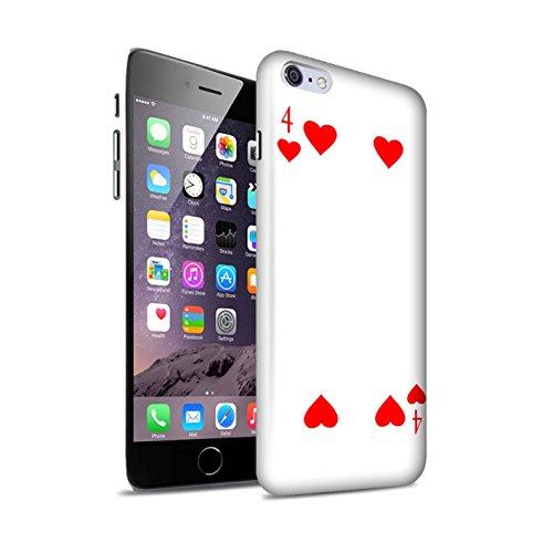 STUFF4 Matte Snap-On Hülle / Case für Apple iPhone 8 Plus / Herz-Ass Muster / Kartenspielen Kollektion 4 von Herz