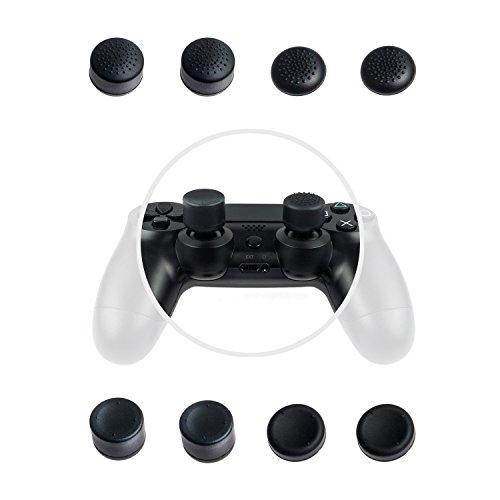 GAMINGER Stick Aufsätze Thumb Grips Joystick 8 Pack für PlayStation 4 Controller Set - zwei verschiedene Formen