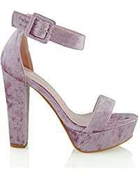 f4b80e1c6 Womens Ankle Strap Platform Ladies Chunky Sole Block Heel Sandals Shoes