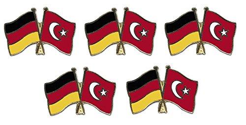 5er Pack Deutschland - Türkei Freundschaftspin Yantec Pin Flagge