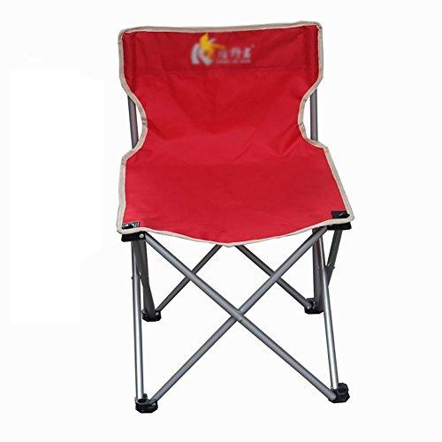 ZCJB Chaise Extérieure Chaise Pliante Portable Chaise De Pêche Chaise Longue Chaise De Plage Chaise Auto-Conduite (Couleur : Rouge, Taille : Grand)