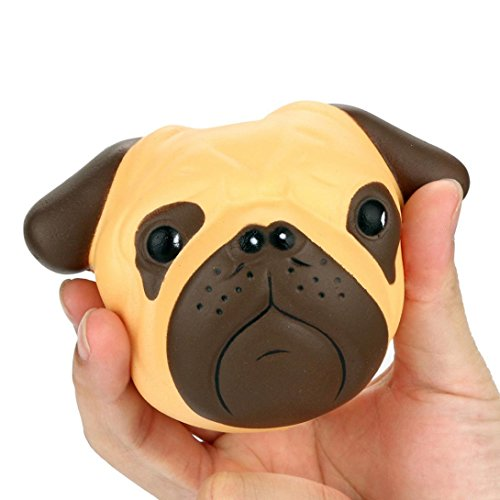 HKFV Creative Unique Amazing Lovely Cute Dogs Stress Relief Funny Toys Pumpkin Pattern Design Halloween Soft Dogs Cartoon Squishy Slow Rising Squeeze Toy Phone Straps