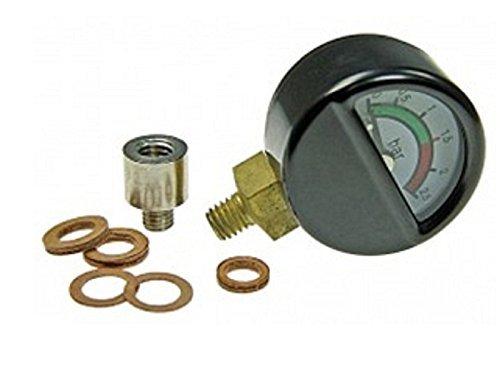 01528 - Wilesco ET - Manometer mit Anschluß unten M 6, D=30 mm, inkl.  Adapterstück 0152
