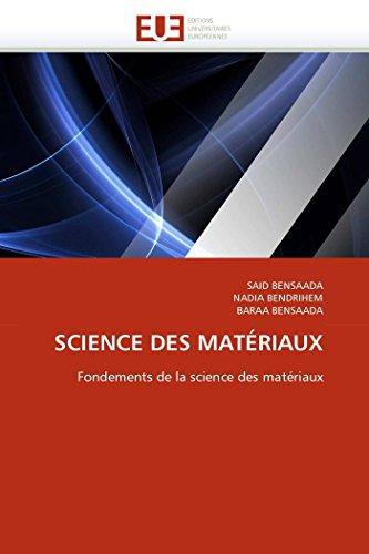 Science des matériaux par SAID BENSAADA