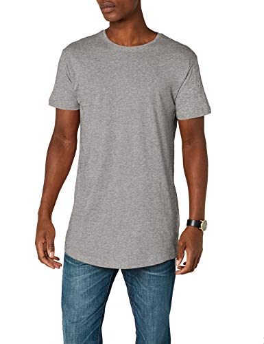 Urban Classics Herren T-Shirt Shaped Long Tee, Grau (Grey), TB638, XXL