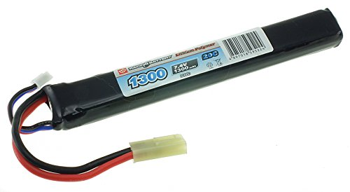 7.4v Airsoft LiPO Batteries (1300mAh 20C Stick 136mm)