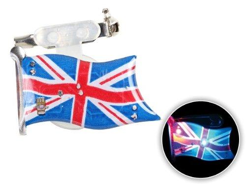 Spilletta LED con luce intermittente bandiera gran bretagna inghilterra great britain spilla pin badge calcio europei mondiali tifosi ultra (100) - Personalizzati Pin Badge