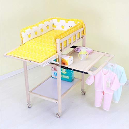 Mr.LQ Wickeltisch Kinderbett Pflegetisch Baby-Touch-Tisch Massivholz Umweltschutz Erhöhung Duschtisch