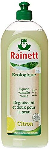 Rainett - Froggy - Lavavajillas líquido ecológico, aroma a limón, para pieles sensibles, con ecoetiqueta europea, 750ml, lote de 4