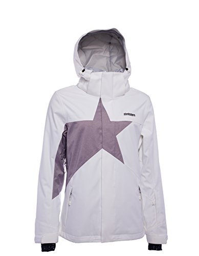 Zimtstern Damen Snowy 17 Snow Jacket, White/Plum Twotone, XS