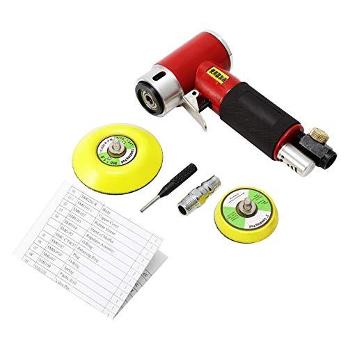 """Dyna-Living Exzenterschleifer Mini Druckluft Schleifmaschine Poliermaschine Rotationspolierer Winkelschleifer Polierer mit 2\"""" 3\""""Schleifteller, Hohe Geschwindigkeit, Leistungstark, bis 12000RPM"""