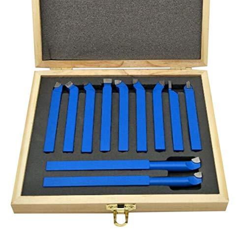Kongqiabona 11pcs punta in carburo con punta taglierina per utensile da taglio Set per metallo tornio lavorazione utensili tipo tornio punte in carburo di tungsteno punte