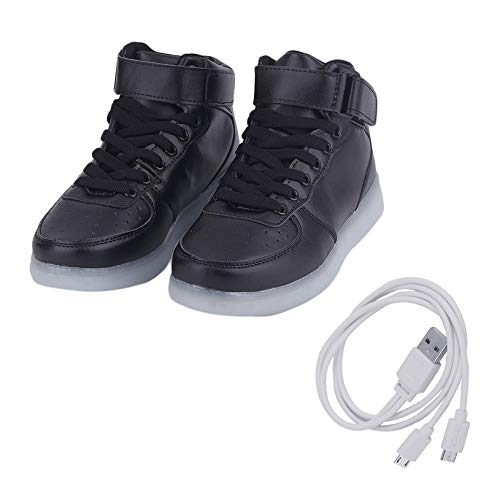 89338a6faa74d fghfhfgjdfj Fashion Cool LED Light Shoes Flashing Luminous USB Charging LED  Sneakers Trainers Unisex Lace Up