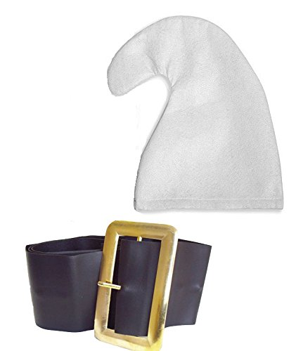 jokeshop. COM Sieben Zwerge/Dwarves Schlumpf Hat GNOME Hat und Gürtel Set Snow White Fancy Kleid Party (Weiß)
