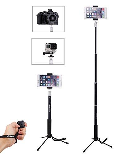 Selfie Stick Set, Handy Stativ, Selfie Stick mit Stativ, Fernauslöser-Bluetooth für Smartphone,Kamera und GoPro