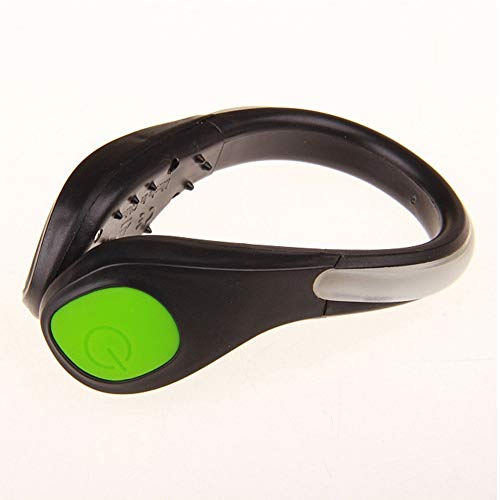 Schimer Night LED Luminous Shoe Clip Light Safety Plastic Attractive Warning Shoes Clip for Cycling Running Sports
