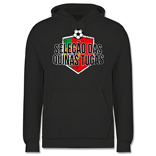 EM 2016 - Frankreich - Portugal-Seleção das Quinas Tugas Vintage - Männer Premium Kapuzenpullover / Hoodie Dunkelgrau