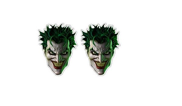 Smiling Joker Aufkleber Villain Schurke Gruselig Monster Maske Twoface Vigilante Evil Sticker Plus Schlüsselringanhänger Aus Kokosnuss Schale Auto Motorrad Bike Helm Laptop Racing Dub Tuning Auto