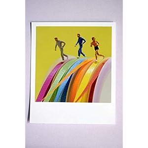 Coole Fotografie im Retro-Polaroid-Format | Läufer | Jogger auf Geschenk-Band zum Geburtstag