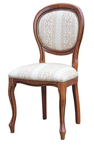 Sedia in stile luigi filippo classica realizzata e tappezzata da artigiani made in italy