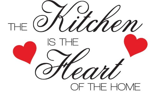 The Kitchen is the Heart of the Home Wall Sticker Decal - Large
