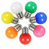 Lot de 7 E27 Couleur LED 2W Ampoule Lampe 200 LM économie d'énergie Ampoules...