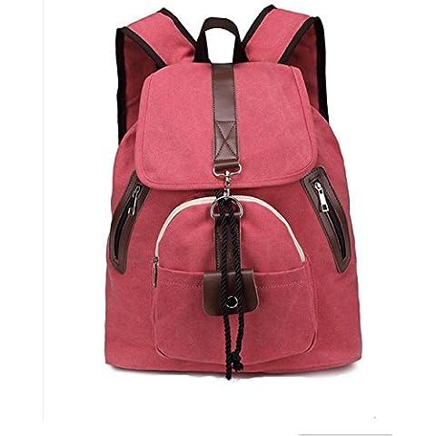 Borse di studente di 20L - 35L tela zaino ladies borsa a spalla , rose red
