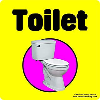 Advanced Printing Dementia Friendly Self-adhesive Toilet sticker sign for Alzheimers and Partially Sighted (Xtra Large 250x250mm)