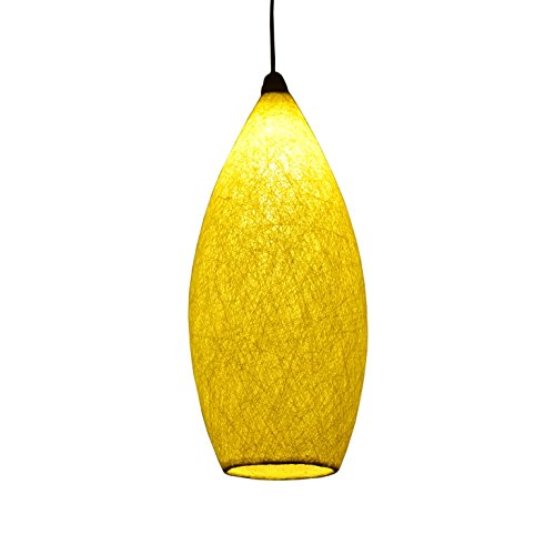 Salebrations Hanging Cocoon Lamp Shades With Yarn
