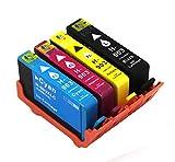 4 Druckerpatronen für HP 903XL 903 XL mit Chip kompatibel mit HP Officejet Pro 6860 Series 6868 6950 6960 6970 6975 6978 6900 Series All-in-One Drucker (1 Schwarz, 1 Cyan, 1 Magenta, 1 Gelb)