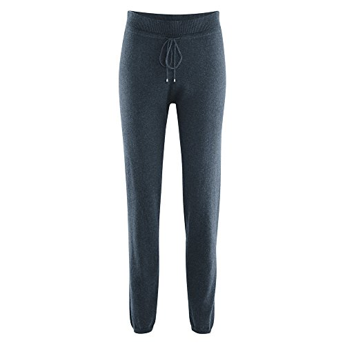 Living Crafts Damen Relax-Hose Bio-Baumwolle/Wolle, Night Blue, Gr. XL