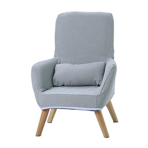 Lazy Sofa LI Jing Shop - Chaise d'allaitement Po mère Chaise d'allaitement Dossier Pliable avec Coton Lavable et Manteau de Lin et Sac de Rangement latéral (Couleur : Gris, Taille : 62 * 50 * 95cm)