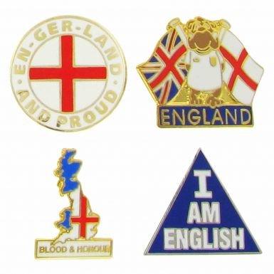 England Patriotic Pin Badges