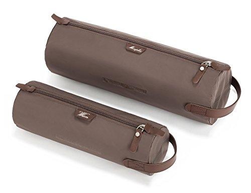 LIGHT FLIGHT Packwürfel Business Resien Leichtgewichitige Roll IT Packing Cubes Set Braun