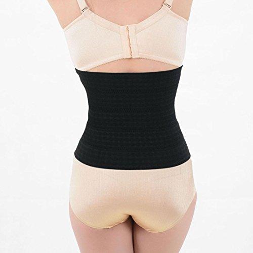 Tonwalk Latex en caoutchouc de taille Body Corset Body Shaper abdominal Ceinture Noir