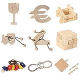 Bartl 500265 Knobelspiele aus Holz Puzzle Set B (9 Puzzles) Geschicklichkeitsspiele für Erwachsene und Kinder