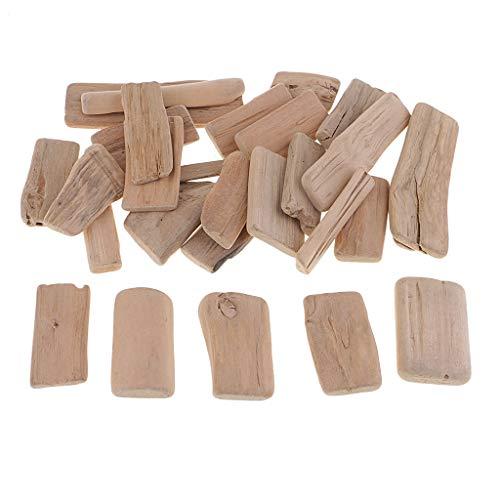 Fenteer 250g Treibholz Holzscheiben Verzierung Holzstücke zum Dekorieren basteln für DIY Handwerk