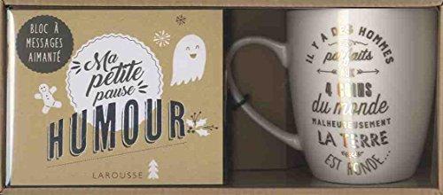 Ma petite pause humour : Avec un mug et un bloc à messages aimanté