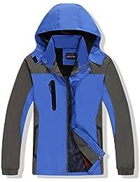4763050f4247f Hibote Femmes Homme Capuche Coupe-Vent et Imperméable en Polaire Extérieure  Respirant Alpinisme Veste Idéal