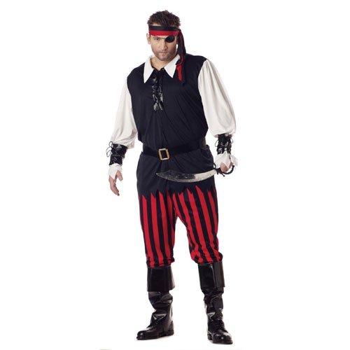 California Costumes 01611 - Piratenkostüm für Herren Pirat Seeräuber Freibeuter Kostüm Übergröße ()