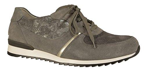 Waldläufer 370004-601-088 Hurly, Sneaker Femme Gris Gris Gris (mittelgrau)