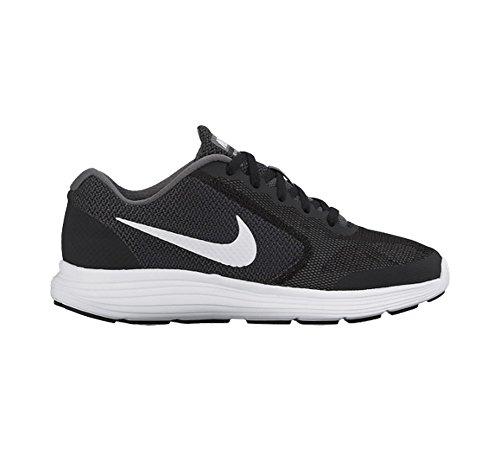 Nike Revolution 3 (Gs) Scarpe da ginnastica, Bambini e ragazzi Nero-Grafite-Bianco