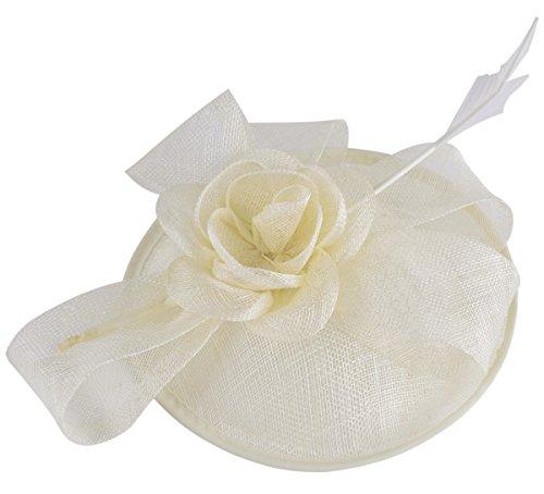 Fascigirl Kopfbedeckung für Damen, Pillbox Hut Elegante Hochzeit Haarteil Mode Retro Haarschmuck