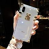 VIWIV pour Iphone Case XS Max Tout-Inclus Drop-Preuve De Couverture Apple XR Coque Creative Fashion New Fancy Glass 6/6s/7/8plus Bouteille De Parfum Transparent Téléphone Cas 2019,iPhoneXR