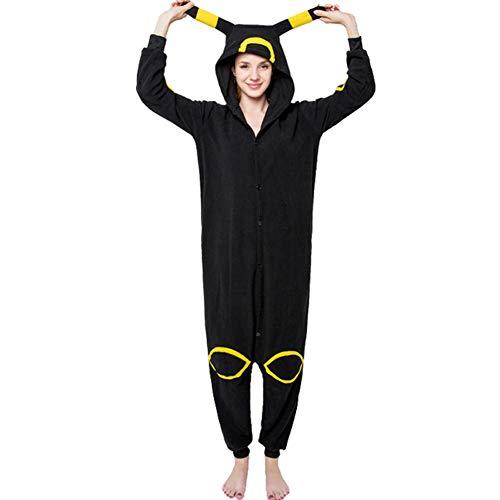 Schwarz Mond Elfen Elf Pyjamas Bekleidung Animal Erwachsene Unisex Schlafanzüge Karneval Onesies Cosplay Kapuzenpullover Jumpsuits Anime Carnival Spielanzug Kostüme Weihnachten Nachtwäsche