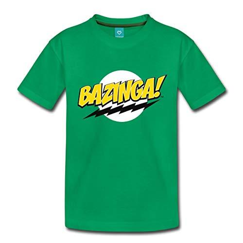 Spreadshirt The Big Bang Theory Bazinga Spruch Sheldon Teenager Premium T-Shirt, 158/164 (12 Jahre), Kelly Green -