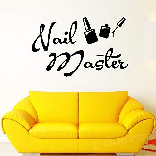 Nagel Master Maniküre Schild Logo Wandaufkleber Salon Aufkleber Nägel Kunst Polnischen Wandtattoos Abnehmbare Tapete 91X56