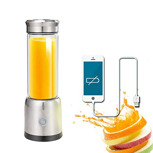 SUNLMG USB Lade Entsafter Multifunktions-Doppelglas Tragbare Automatische Obst Und Gemüse Saft Maschine Schlacke Saft Trennung Saft Maschine Edelstahl Nährstoffreiche Gesunde Obst Und Gemüse Saft Hohe Saft Rate Produkt Leicht Zu Reinigen