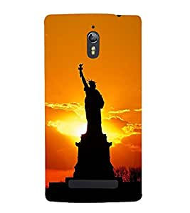 PrintVisa Designer Back Case Cover for Oppo Find 7 :: Oppo Find 7 QHD :: Oppo Find 7a :: Oppo Find 7 FullHD :: Oppo Find 7 FHD (Statue of Liberty)